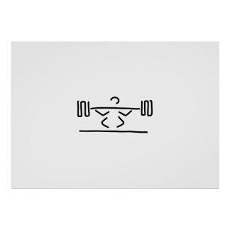 gewichtheber hanteln gewichtheben poster