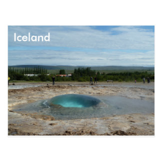 Geyser about to erupt! greeting card postcard