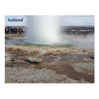 Geyser erupting, Iceland Postcard