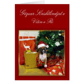 Gëzuar Krishtlindjet e Vitin e Ri boxer card