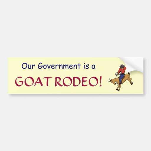 GF- autocollant de rodéo de chèvre de gouvernement Autocollants Pour Voiture
