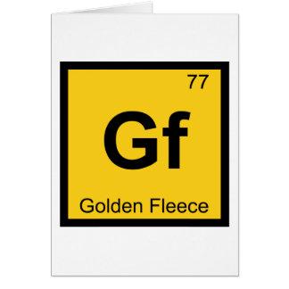 Gf - Golden Fleece Greek Chemistry Periodic Table Card
