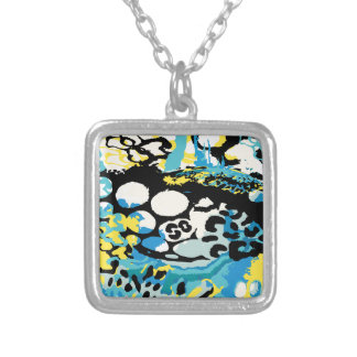 GG.003_Deep Sea Leapord.tif Silver Plated Necklace