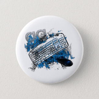 gg - good game, keyboard, mouser - gamer 2 inch round button