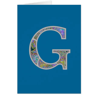 Gg Illuminated Monogram Card
