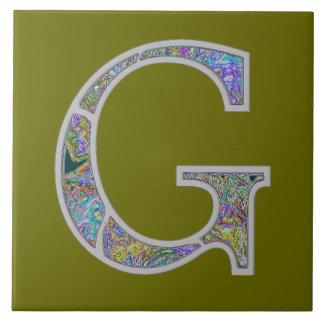 Gg Illuminated Monogram Tile