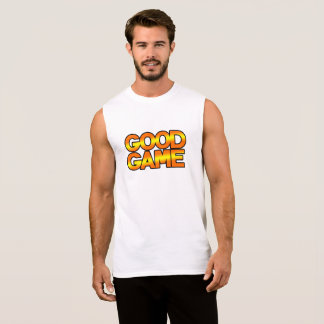 GG Men's Ultra Cotton Sleeveless T-Shirt, White Sleeveless Shirt