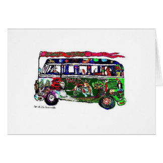 GGBR Holiday Card - Hippy Bus