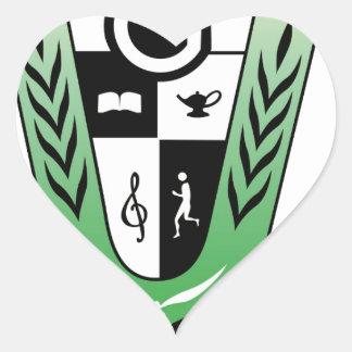 GGMSS 60th Alumni Reunion Crest Products Heart Sticker