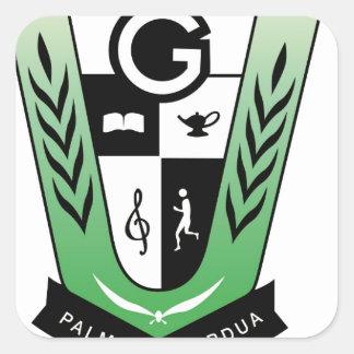GGMSS 60th Alumni Reunion Crest Products Square Sticker