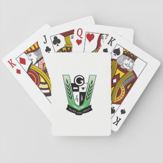GGMSS 60th Reunion Crest Playing Cards White