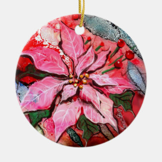 GG's Round Poinsettia Ornament