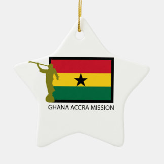 GHANA ACCRA MISSION LDS CTR CERAMIC ORNAMENT