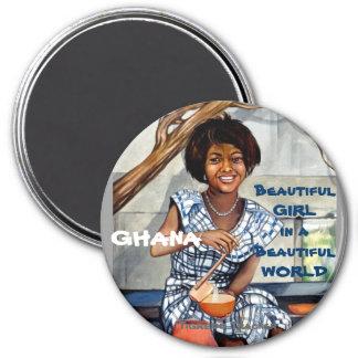 Ghana Beautiful Girl in a Beautiful World Magnet