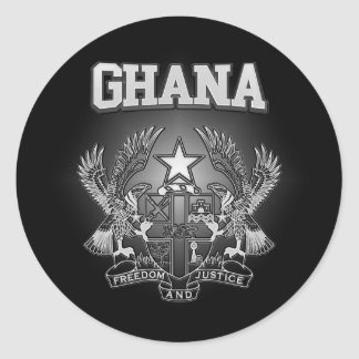 Ghana Coat of Arms Classic Round Sticker