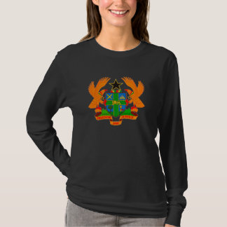 Ghana Coat of Arms Ladies Long Sleeve T-Shirt