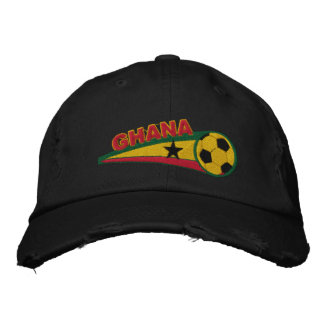 Ghana Embroidered soccer baseball cap