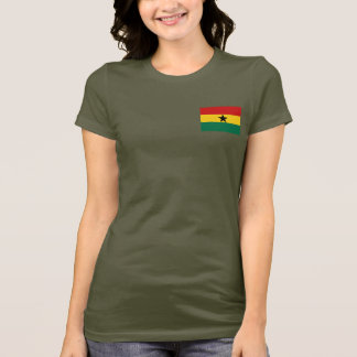 Ghana Flag and Map dk T-Shirt
