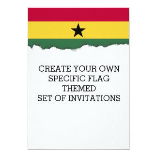Ghana flag card