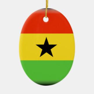 Ghana Flag Ceramic Ornament