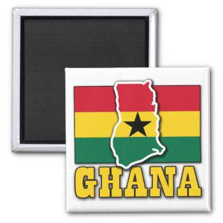 Ghana Flag Land Magnet