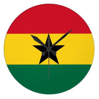 Ghana Flag Large Clock