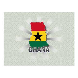 Ghana Flag Map 2.0 Postcard