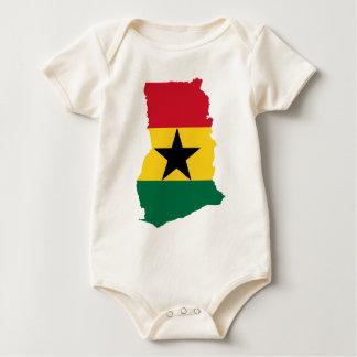 Ghana flag map baby bodysuit