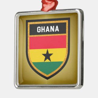 Ghana Flag Metal Ornament