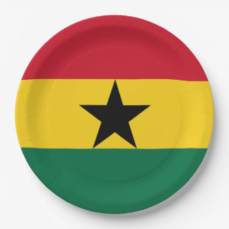 Ghana Flag Paper Plate