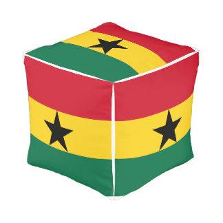 Ghana Flag Pouf