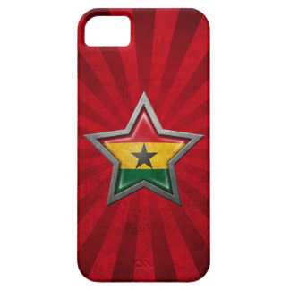 Ghana Flag Star with Rays of Light iPhone 5 Cover