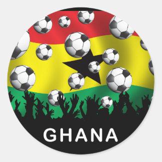 Ghana Football Classic Round Sticker