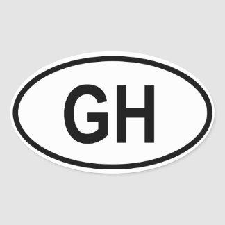 "Ghana ""GH"" Oval Sticker"