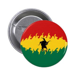 Ghana Gnarly Flag Pinback Button