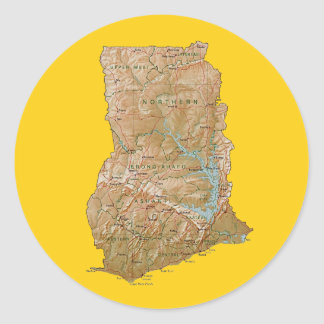 Ghana Map Sticker