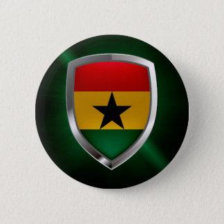Ghana Mettalic Emblem 2 Inch Round Button