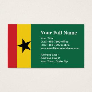 Ghana Plain Flag Business Card
