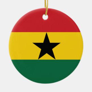 Ghana Plain Flag Ceramic Ornament