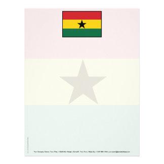 Ghana Plain Flag Letterhead Template