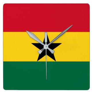 Ghana Square Wall Clock