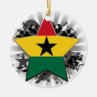 Ghana Star Ceramic Ornament