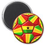 Ghana The Black Stars soccer ball Ghanaian flags Fridge Magnet