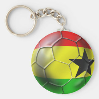Ghanaian flag of Ghana Soccer ball for fans Keychain
