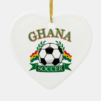 Ghanaian Soccer Designs Ceramic Ornament