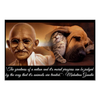 Ghandi Animal Quote Poster