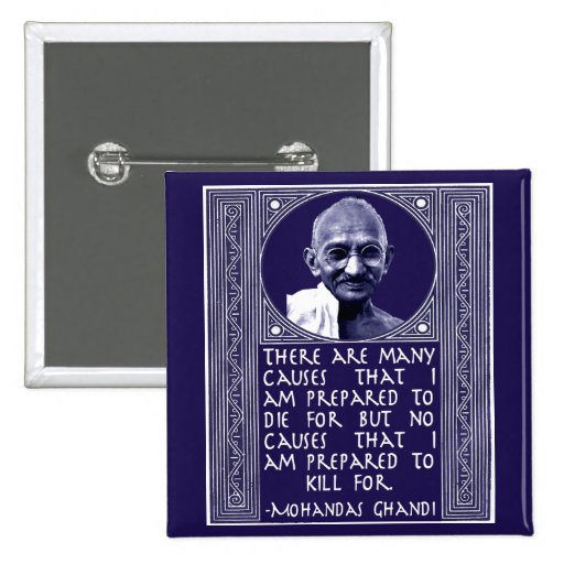 Ghandi on Causes Button
