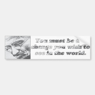 Ghandi quote bumper sticker