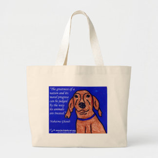 Ghandi Quote on Animal Welfare Large Tote Bag