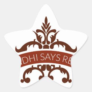 ghandi says relax star sticker